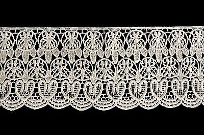 """Lily 1.25/"""" Black Silver Lilac Pink White Embroidery Sequins Organza Lace Trim"""
