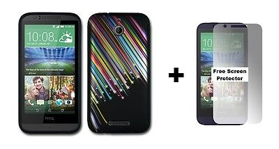 HTC Desire 510 Rubberized Hybrid Phone Case + Screen Protector Shooting Star
