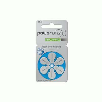 Power One High Level Hearing Aid Batteries (QTY 60) Size 675
