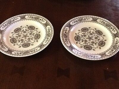 Pair Of Vintage Plates From Royal China Hampshire