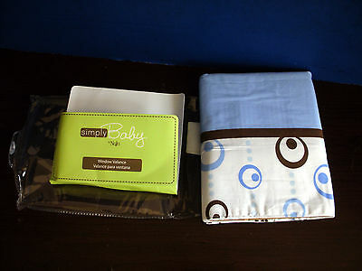 Simply Baby  by NOJO~Blue WINDOW VALANCE~Metro Collection~NEW IN PACKAGE