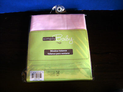 Simply Baby  by NOJO~Pink WINDOW VALANCE~Hugs & Kisses Collection~NEW IN PACKAGE