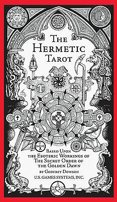 Hermetic Tarot Deck Cards NEW IN BOX Godfrey Dowson Esoteric Golden Dawn Qabalah