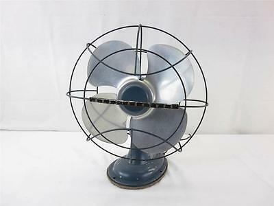 Vintage Westinghouse Electric Fan Blue Art Deco Works