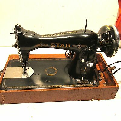 """VINTAGE 40'S STAR delux  PORTABLE SEWING MACHINE """"Made in Occupied Japan"""""""