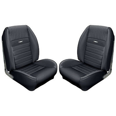 1965 1966 65 66 Mustang Coupe Black Sport II Upholstery Pony Interior TMI Foam