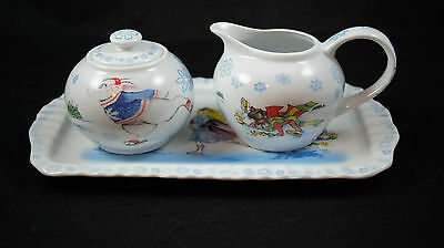 Alice in Winterland Sugar Creamer and Tray by Paul Cardew New