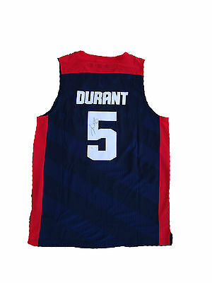 """Kevin Durant Signed United States USA """" 2012 Olympics """" BLUE Jersey JSA"""
