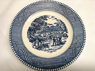 5 ROYAL CHINA CURRIER & IVES BREAD & BUTTER DESSERT PLATES