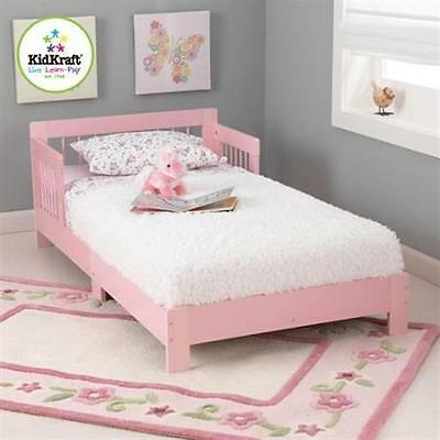 Kidkraft Kids Pink Princess Wooden Toddler Bed Cot NEW