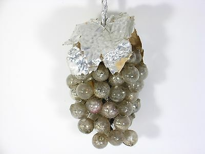 VINTAGE Mercury Glass Beads/Balls on Silver Foil Grape Cluster Occupied Japan Lg