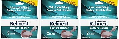 DOC Denture RELINER RELINE IT - 2 repairs / box ( 3 boxes ) PHARMACY FRESH!
