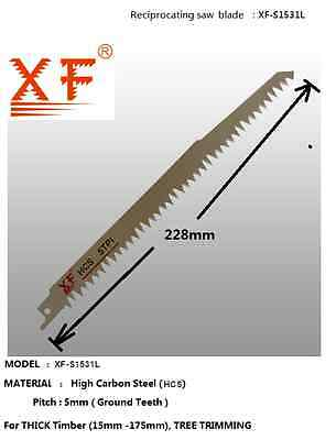 S1531L 5TPI 228mm Reciprocating Saw Blade - DEMOLITION THICK WOOD PRUNING ROOT