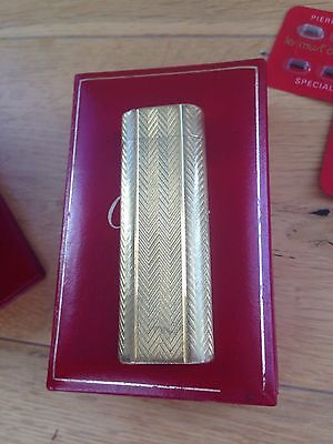 Vintage cartier Lighter With Box And Papers.