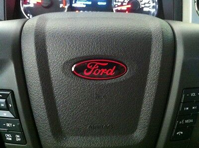 Ford Steering Wheel oval emblem DECAL / STICKER OVERLAY