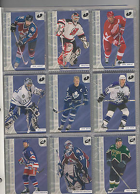 01-02 Be A Player Between The Pipes & Signature Series Redemption Decoy Sets Roy