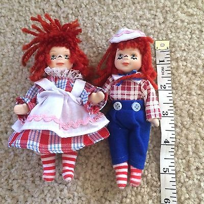 Vintage Raggedy Ann and Andy Dolls, Collectible