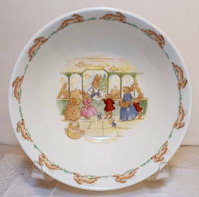 """Royal Doulton Bunnykins 1936 Cereal Soup Bowl 6"""" At The Post Office Mint"""