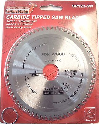 """5"""" (125mm) - 22.2/16mm Bore Wood Cutting Saw Blade (Aluminium available)"""