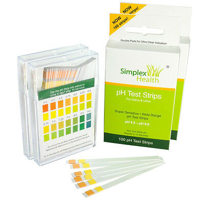 pH Dual Testing Strip | Strips Stix Test Urine & Saliva