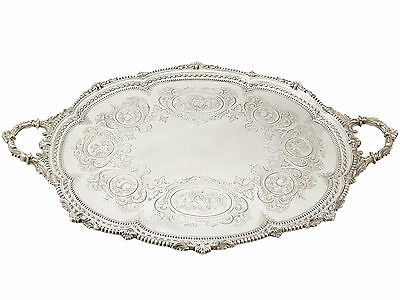 Sterling Silver Tea Tray by Martin Hall & Co - Antique Victorian