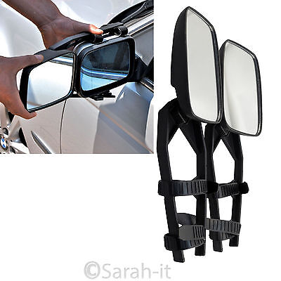 2 x Caravan Towing Mirror Extension Car Wing Mirror for Both Driver + Passenger