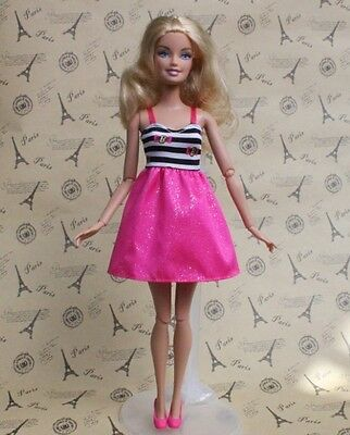 High quality Original purple gown wears clothes for barbie Doll Party c117