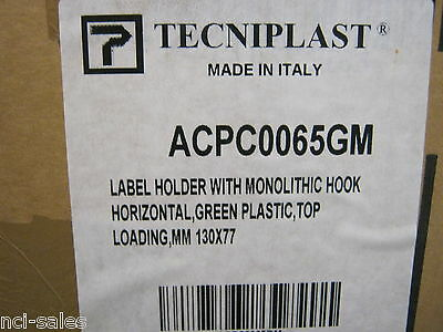 TECNIPLAST ACPC0065GM LABEL HOLDER W/MONOLITH HOOK 130x77mm BOX OF 100