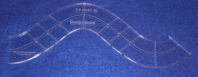 """Border Braid- Quilting Template - ~1/4"""" Clear Acrylic"""