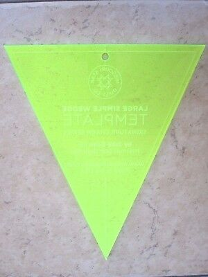 Quilt Template Large Simple Wedge Layer Cake Hanging Template Brand  New