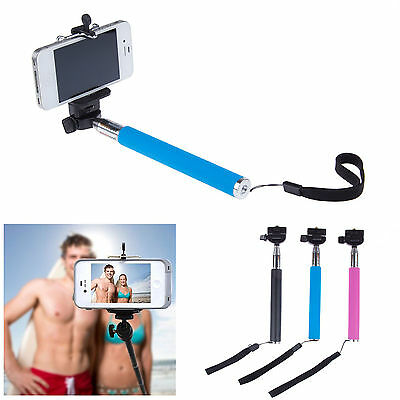 Selfie Rotary Extendable Handheld For Camera Tripod Smart Phone Monopod 3 Color