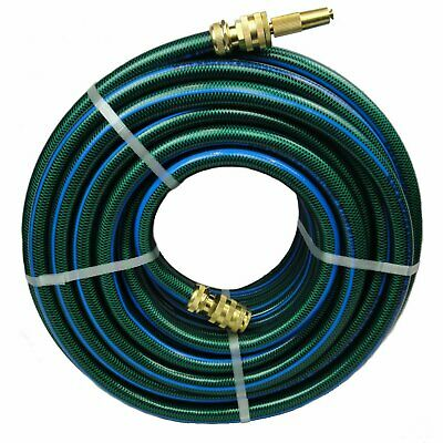 "Garden Water 100M Flexible Hose 18MM - 3/4"" ZORRO Brass Fittings 8/10KINK FREE"