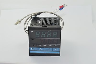 New Digital PID SSR Thermostat Temperature Controller + K Thermocouple Sensor