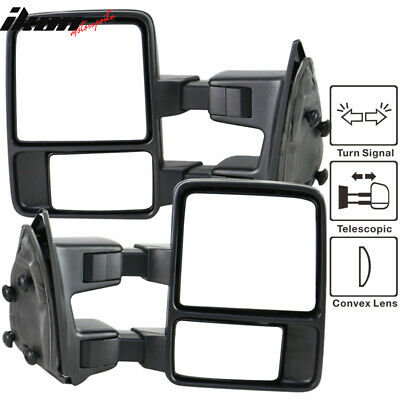 99-15 Ford F250-550 Tow Towing Mirrors Manual With Functional Signal Pair