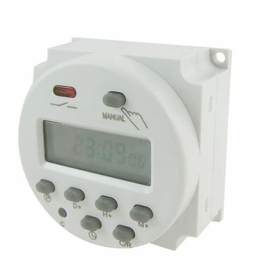 New LCD Digital Power Programmable Timer AC 12V 24V 16A Time Relay Switch - UK