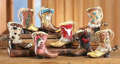 Miniature Western Cowboy Boots Ornaments or Wedding Favors NEW 8 different boots