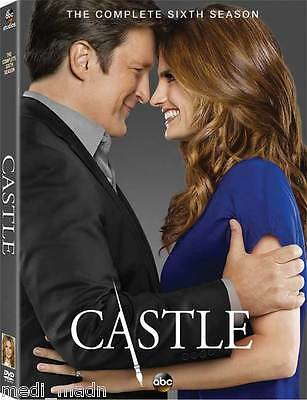 Castle The Complete Sixth Season 6 (DVD, 2014, 5-Disc Set) New FREE US SHIPPING