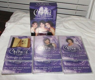 CHARMED THE COMPLETE FIRST SEASON BOX SET SIX DISCS TESTED PLAY PERFECT