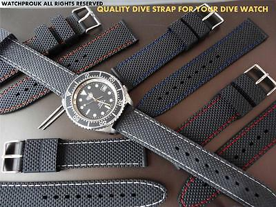 QUALITY REPLACEMENT RUBBER DIVE STRAP BAND FOR  ROTARY  DIVE / MILITARY  WATCH
