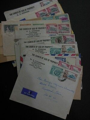CYPRUS : Nice grouping of 20 covers & 2 Post Cards.