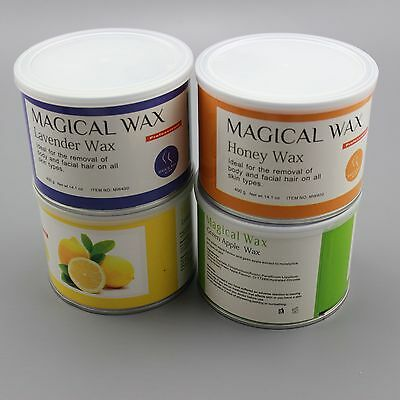 Magical Wax Strip Waxing Tin Salon Hair Removal for Wax Heater Pot w Free Strps