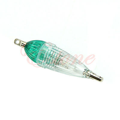 LED Deep Drop Underwater Fishing Squid Fish Lure Light Green Flashing Mini Lamp