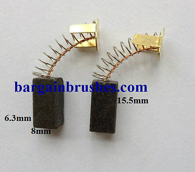 CARBON BRUSHES 2FIT EINHELL MP 125 CASALS M115 LP 200 ANGLE GRINDER 10150 -E107