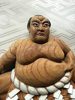 SUMO YOKOZUNA RIKISHI#01 Wood Carving ART Statue of Japan Traditional