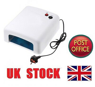 36W UV Lamp Nail Art Gel Curing Tube Light Dryer White with Timer Function ZX76