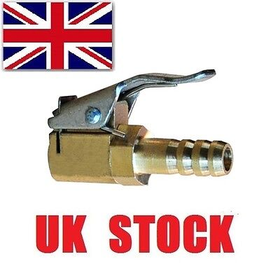 Tire Valve Air Chuck Connector Car Van Airline Inflator 8mm Brass lock Clip-on