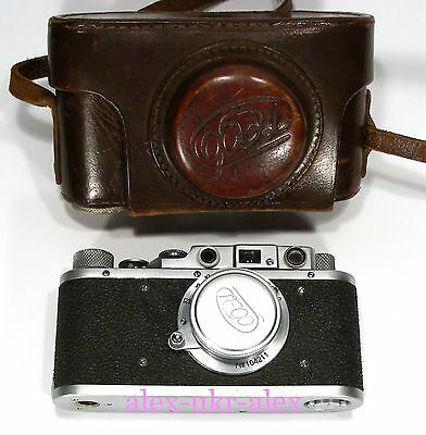 Russian FED with 3,5/50 mm lens35-mm RF camera M39 mount.Excellent+, repair
