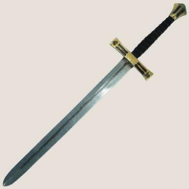 "MEDIEVAL KNIGHT Templar Hospitaller Teutonic Crusader 43"" SWORD Latex LARP New"