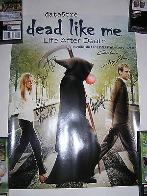 NEW SIGNED NYCC 2009 Exclusive Dead Like Me Life After Death Promo Poster