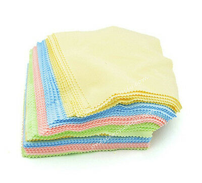 100 Microfiber Square Clean Cleaning Cloth For Phone Screen Camera Lens Glasses